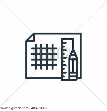 grid lines icon isolated on white background from graphic design collection. grid lines icon thin li