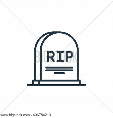 grave icon isolated on white background from funeral collection. grave icon thin line outline linear