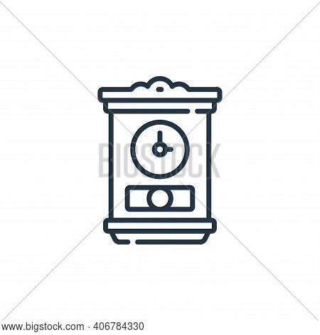 grandfather clock icon isolated on white background from calendar and date collection. grandfather c