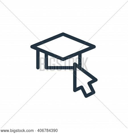 graduation icon isolated on white background from online learning collection. graduation icon thin l
