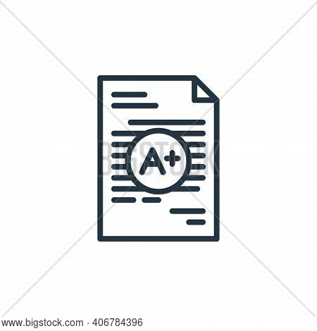 grade icon isolated on white background from education collection. grade icon thin line outline line