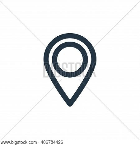 gps icon isolated on white background from multimedia collection. gps icon thin line outline linear