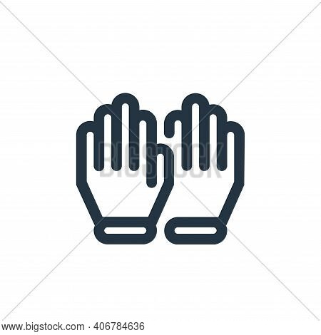 gloves icon isolated on white background from coronavirus collection. gloves icon thin line outline