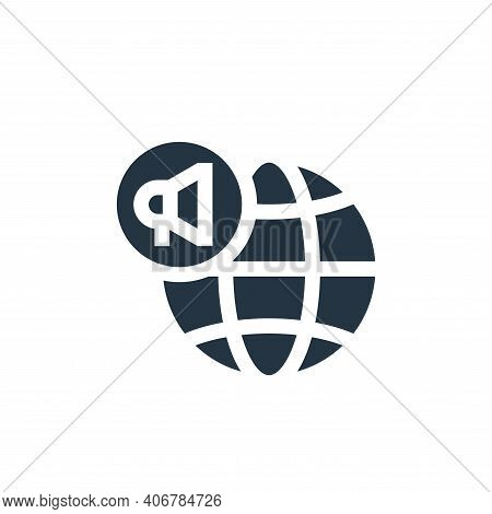 global marketing icon isolated on white background from advertisement collection. global marketing i