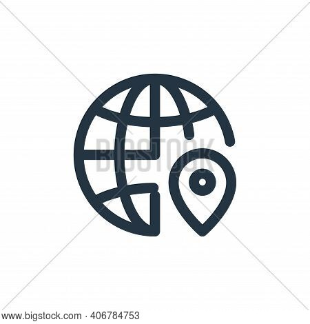 global icon isolated on white background from web apps seo collection. global icon thin line outline