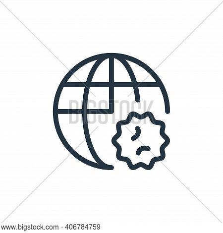 global icon isolated on white background from coronavirus collection. global icon thin line outline