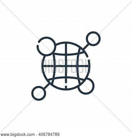 global icon isolated on white background from database and servers collection. global icon thin line