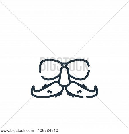 glasses icon isolated on white background from celebration collection. glasses icon thin line outlin