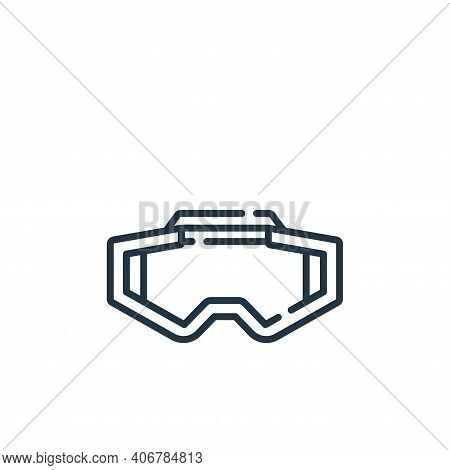 glasses icon isolated on white background from auto racing collection. glasses icon thin line outlin