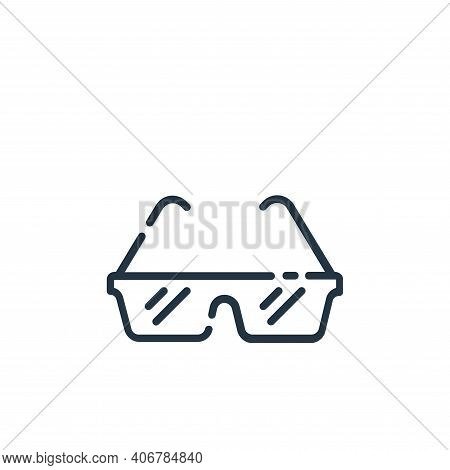 glasses icon isolated on white background from startup collection. glasses icon thin line outline li