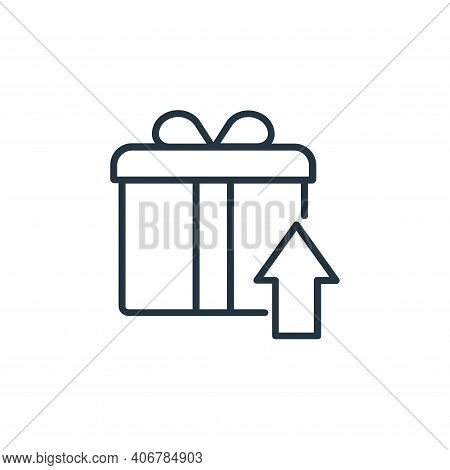 gift box icon isolated on white background from shopping line icons collection. gift box icon thin l