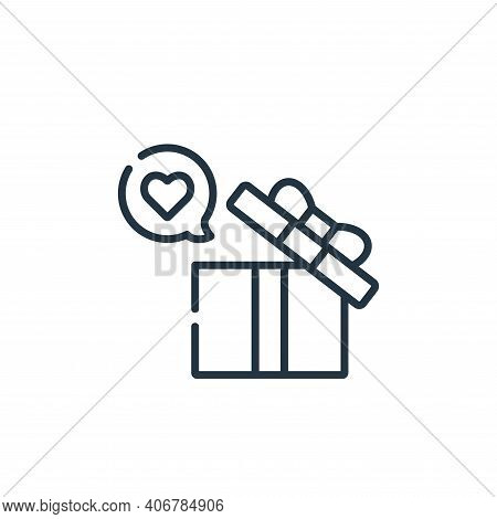 gift icon isolated on white background from kindness collection. gift icon thin line outline linear