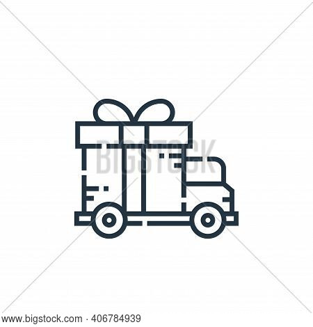 gift icon isolated on white background from delivery collection. gift icon thin line outline linear