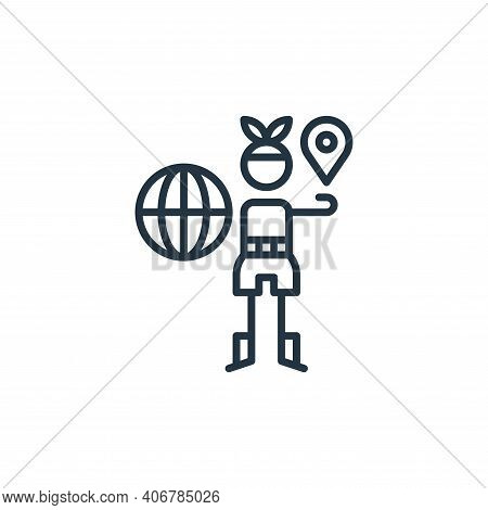 geography icon isolated on white background from general arts collection. geography icon thin line o