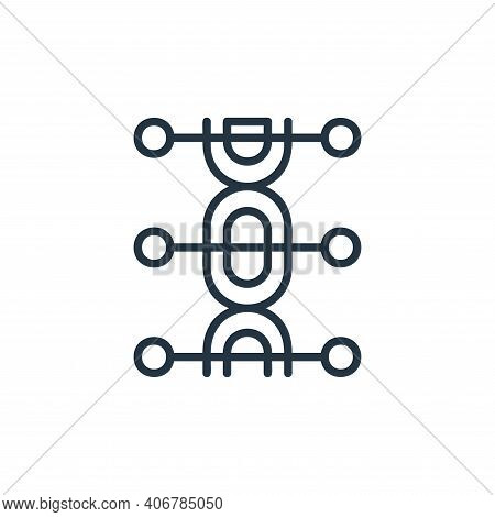 genetics icon isolated on white background from covid collection. genetics icon thin line outline li