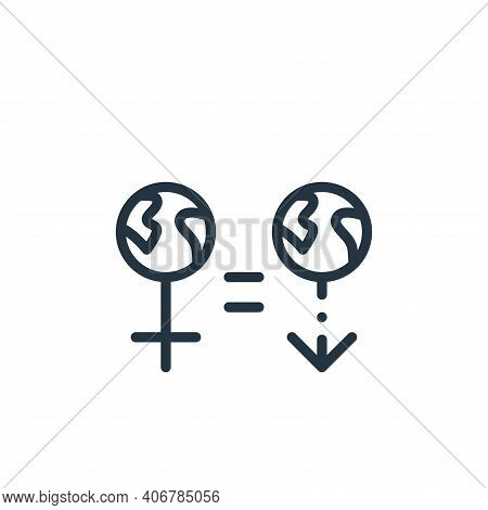 gender icon isolated on white background from world love collection. gender icon thin line outline l
