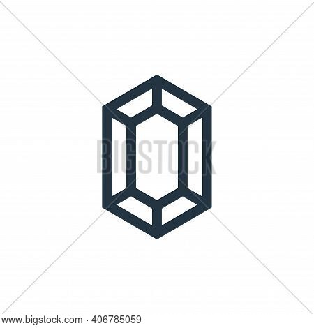 gem icon isolated on white background from video game elements collection. gem icon thin line outlin