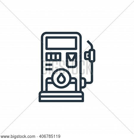 gas station icon isolated on white background from motorway collection. gas station icon thin line o