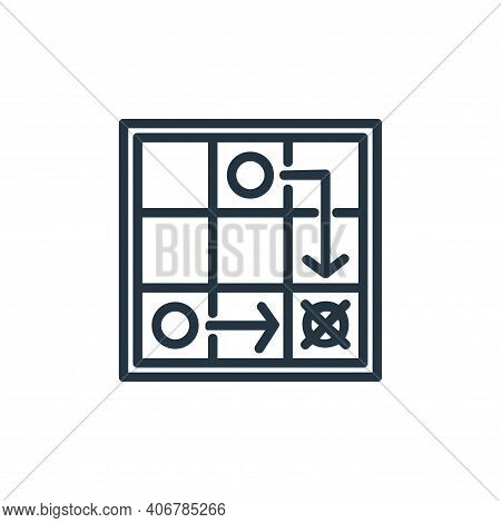 game strategy icon isolated on white background from chess game collection. game strategy icon thin
