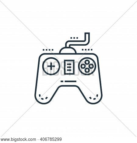 gamepad icon isolated on white background from technology devices collection. gamepad icon thin line