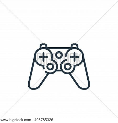 gamepad icon isolated on white background from mall collection. gamepad icon thin line outline linea