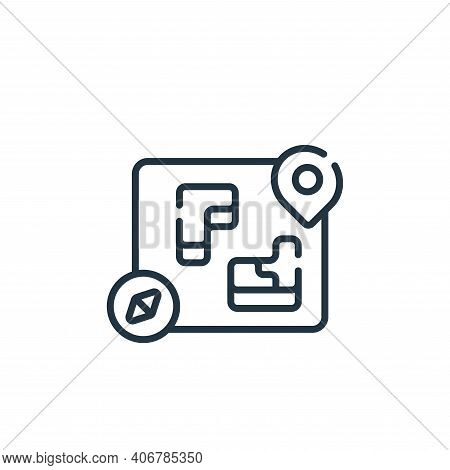 game map icon isolated on white background from videogame collection. game map icon thin line outlin