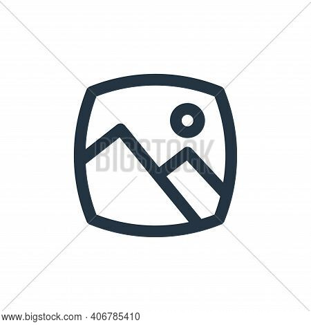 gallery icon isolated on white background from basic ui collection. gallery icon thin line outline l