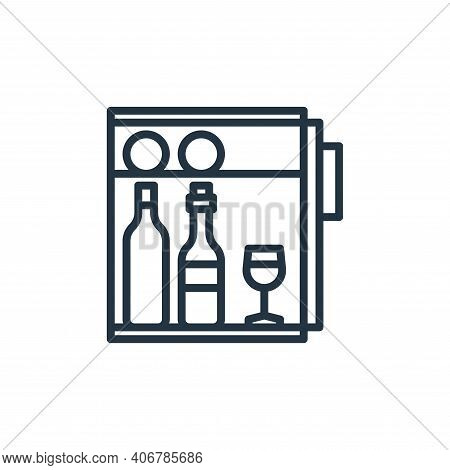 fridge icon isolated on white background from hotel collection. fridge icon thin line outline linear