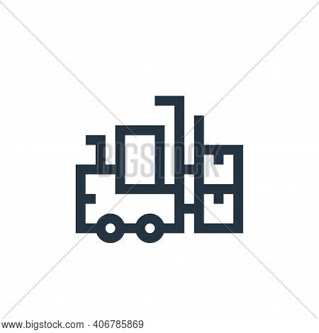 forklift icon isolated on white background from manufacturing collection. forklift icon thin line ou