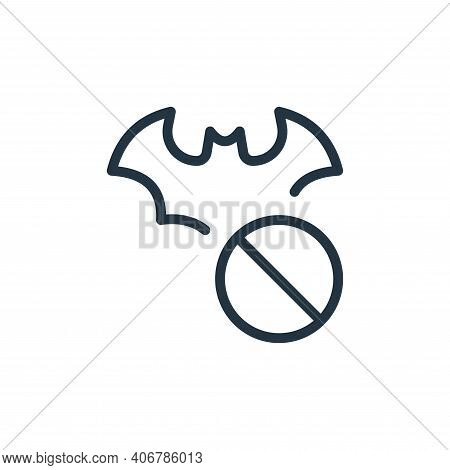 forbidden icon isolated on white background from coronavirus collection. forbidden icon thin line ou