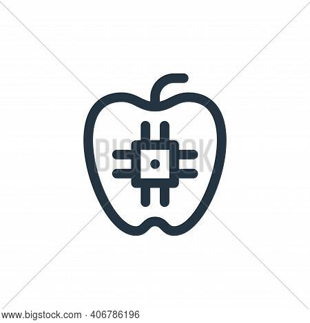 food icon isolated on white background from technology of the future collection. food icon thin line
