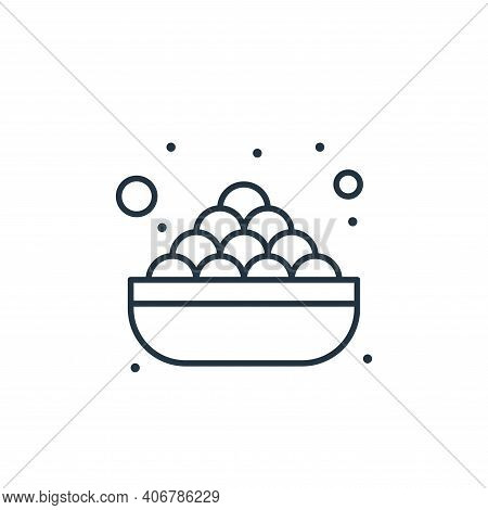 food icon isolated on white background from islam and ramadan collection. food icon thin line outlin