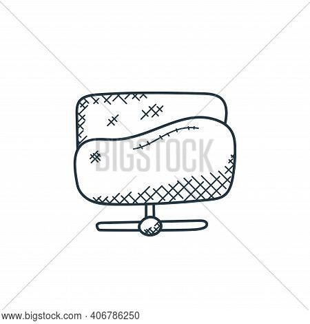 folder network icon isolated on white background from technology collection. folder network icon thi