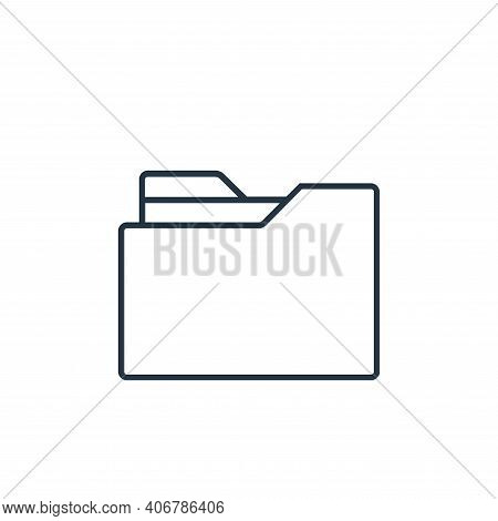 folder icon isolated on white background from user interface collection. folder icon thin line outli