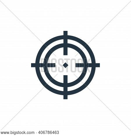 focus icon isolated on white background from job resume collection. focus icon thin line outline lin