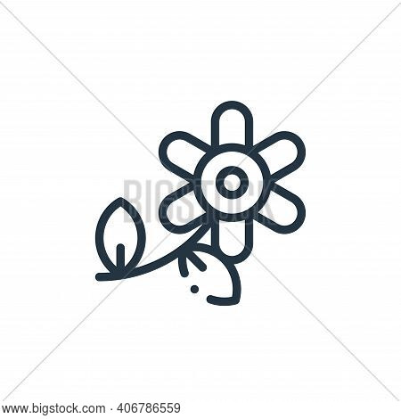 flower icon isolated on white background from ecology collection. flower icon thin line outline line