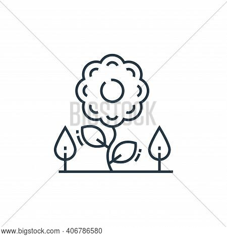 flower icon isolated on white background from environment and eco collection. flower icon thin line