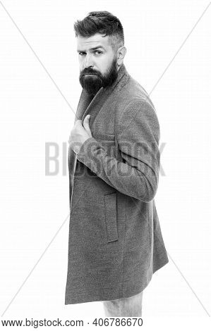 Stylish Casual Outfit. Menswear And Fashion Concept. Comfortable Outfit. Man Bearded Hipster Stylish