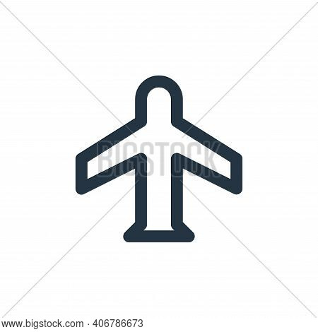 flight mode icon isolated on white background from user interface collection. flight mode icon thin
