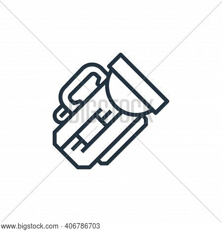flashlight icon isolated on white background from camping collection. flashlight icon thin line outl