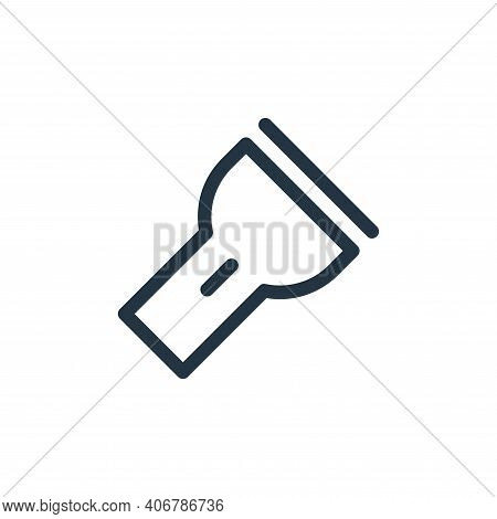 flashlight icon isolated on white background from electronics collection. flashlight icon thin line