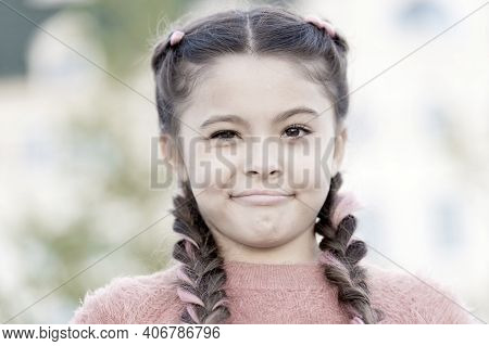Have Some Doubts. Sincere Emotional Kid. Girl Emotional Face. Thoughts And Doubts Concept. Kid Doubt