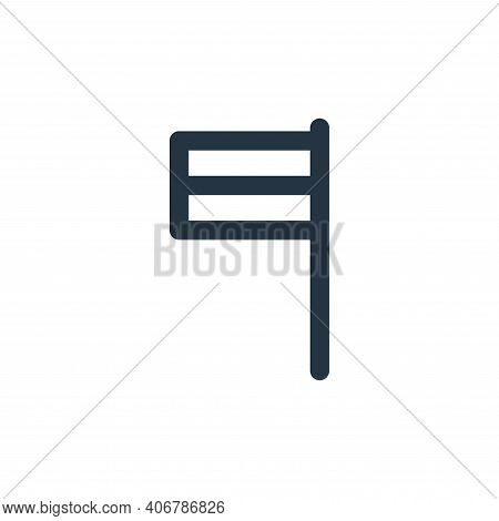 flag icon isolated on white background from holiday collection. flag icon thin line outline linear f
