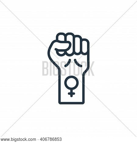 fist icon isolated on white background from womens day collection. fist icon thin line outline linea