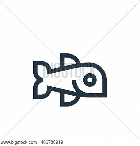 fish icon isolated on white background from nutrition collection. fish icon thin line outline linear