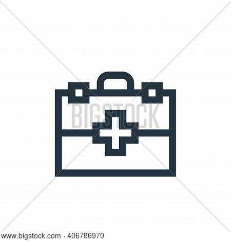 first aid kit icon isolated on white background from pet shop collection. first aid kit icon thin li