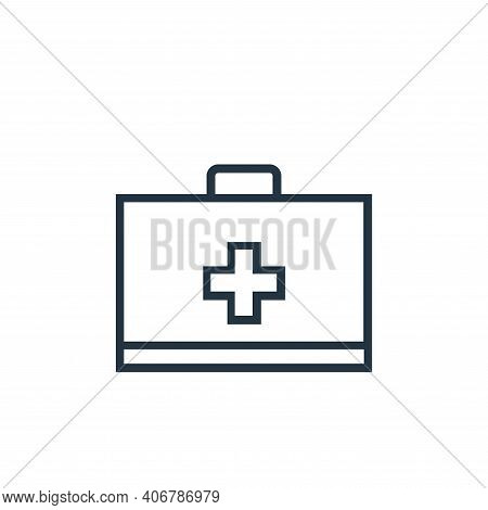 first aid kit icon isolated on white background from medical tools collection. first aid kit icon th