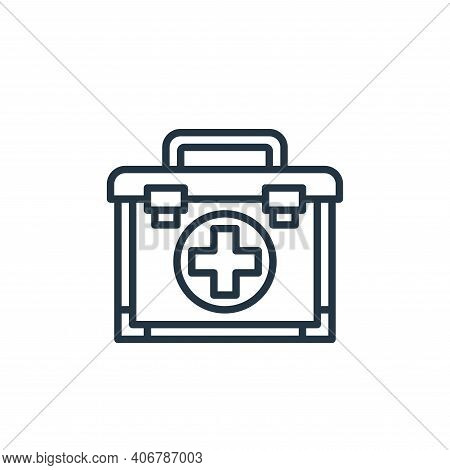 first aid kit icon isolated on white background from hospital collection. first aid kit icon thin li