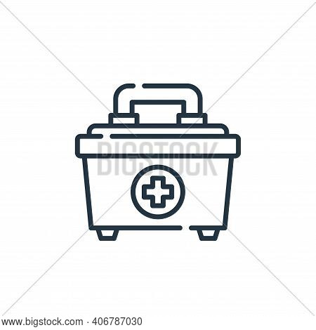 first aid kit icon isolated on white background from allergies collection. first aid kit icon thin l