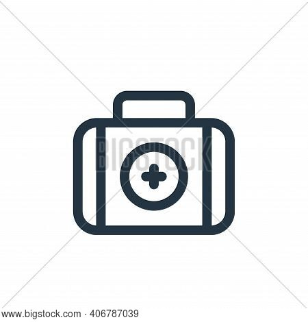 first aid kit icon isolated on white background from health collection. first aid kit icon thin line